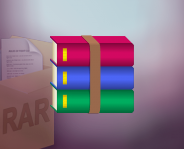 How to split large files using WinRar