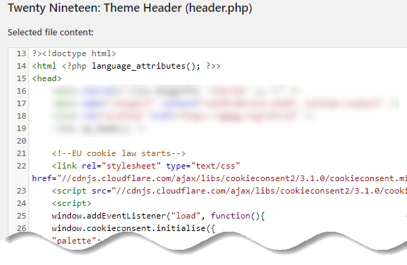 Open up the header.php file and paste the code you have copied after the opening head tag