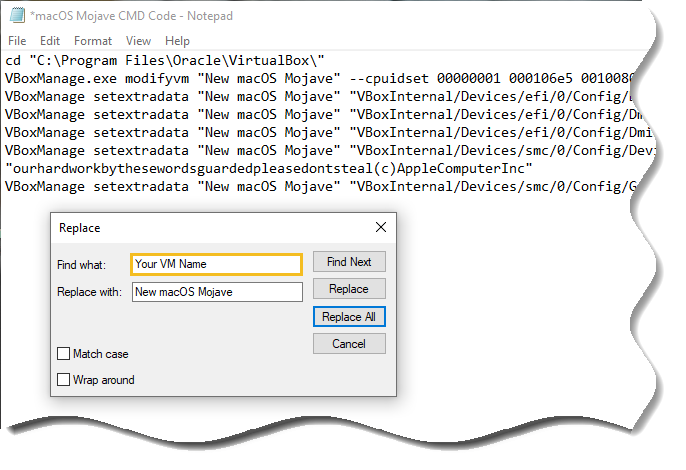 Edit VirtualBox code