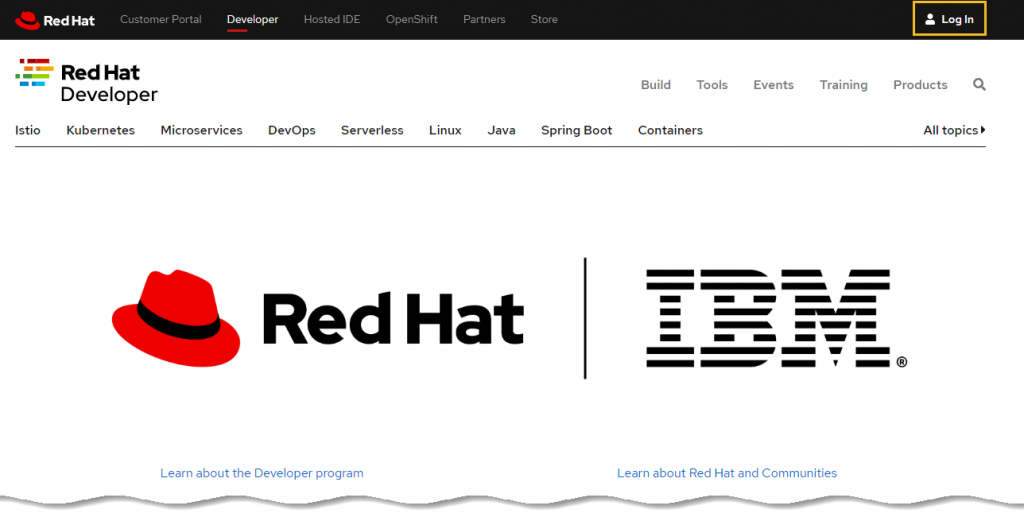 Red Hat Developer site - Download Red Hat for free