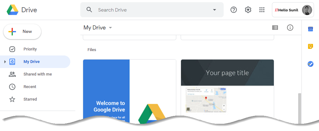 Your company logo on Google bar (Google Drive)