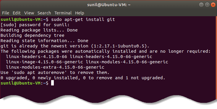 Install git on Ubuntu linux - git commands