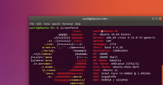 display-linux-logo-in-ascii