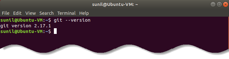 Git version check under Ubuntu Linux