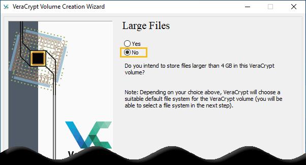 Select the option No