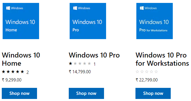 Windows 10 price tag from Microsoft