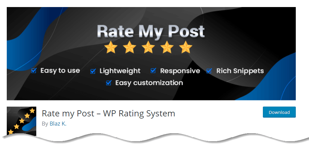 Rate my Post – WP Rating System - Best WordPress Star rating plugins with Google Rich snippets