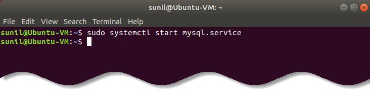 Start MySQL service - Install MySQL on Ubuntu Linux