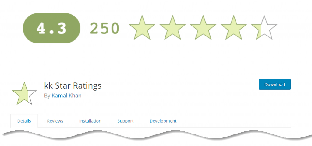 kk Star Ratings - Best WordPress Star rating plugins with Google Rich snippets