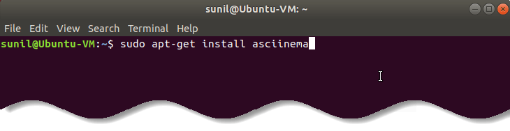 Install asciinema on Ubuntu Linux - Record animated SVG