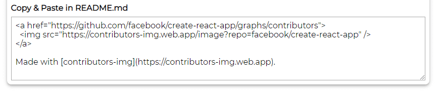 Copy & Paste in README.md - Display GitHub contributors in README