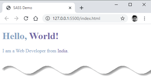 Setup SASS in VS Code - scss output pain css - output on google chrome browser