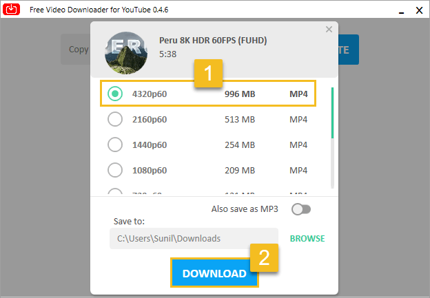 Download YouTube Video - Free Video Downloader for YouTube - click download button