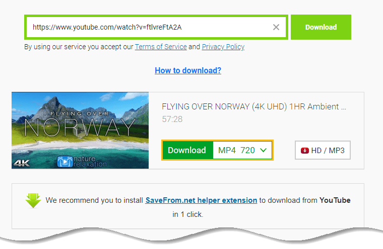Download YouTube Video - SaveFrom.net - click on download button - 720p