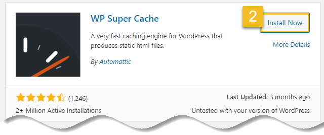Install WordPress plugin - Click on install now button