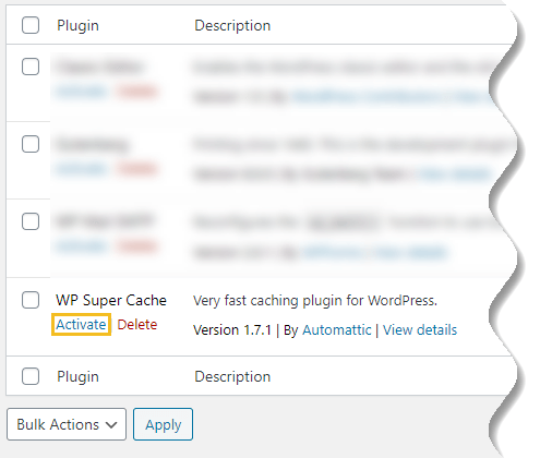 Install WordPress plugin - manually activate uploaded plugin