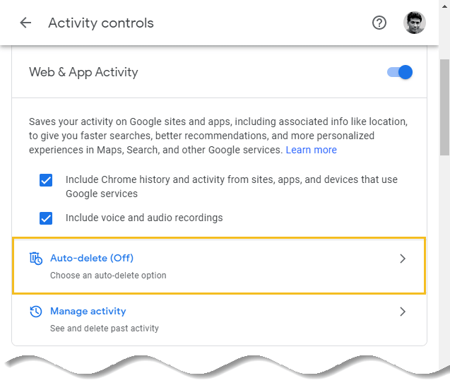 How to delete Google browsing history - Google My Activity homepage - google search auto-delete