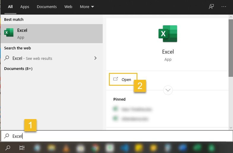 Excel for Beginners- Open Microsoft-Excel in Windows-10