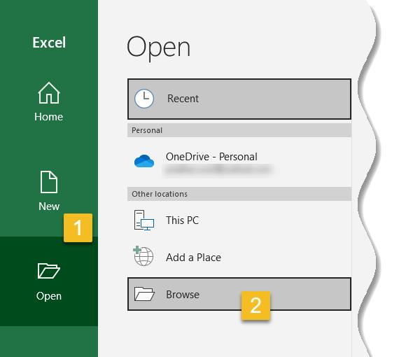 Excel for Beginners - Open existing workbook in  Excel