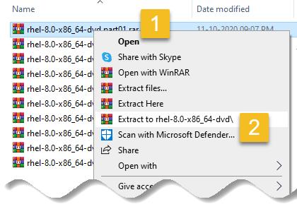 Split Large Files Using WinRAR - uncompress split files