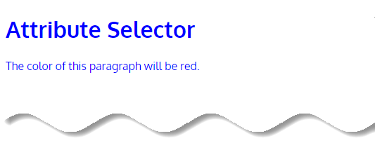 CSS Attribute Selectors - attribute selector example-1