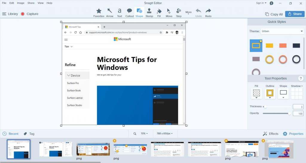 How to Take a Screenshot on Windows 10 - take screenshot with Snagit -4