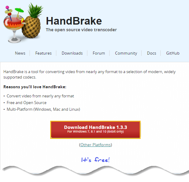Download Handbrake - How to Compress a Video File without Losing Quality-1
