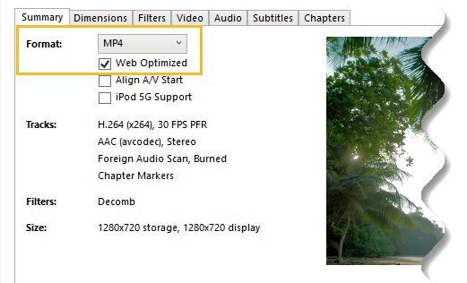 Web Optimized and MP4 Handbrake - How to Compress a Video File without Losing Quality-4