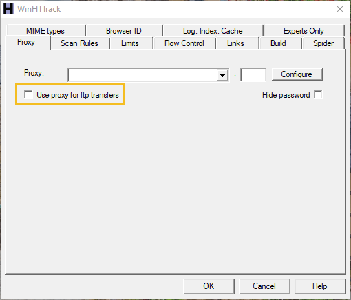 Copy any website using HTTrack - img 5