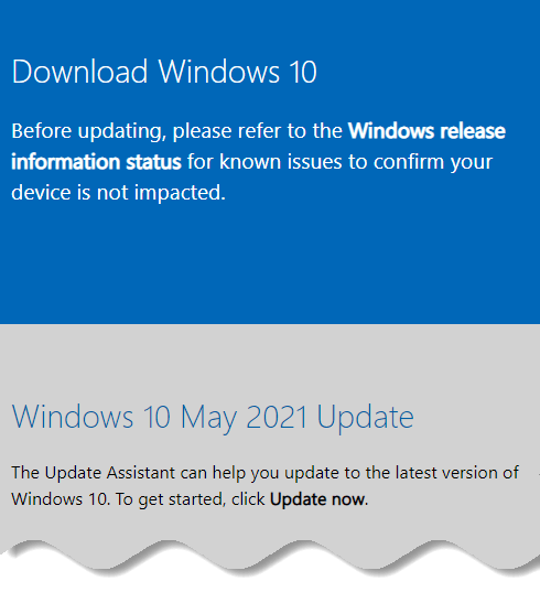 Download Windows 10 offline ISO - May 2021 update - Windows download page on Google chrome