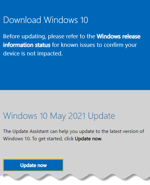 Download Windows 10 offline ISO - May 2021 update - Windows download page