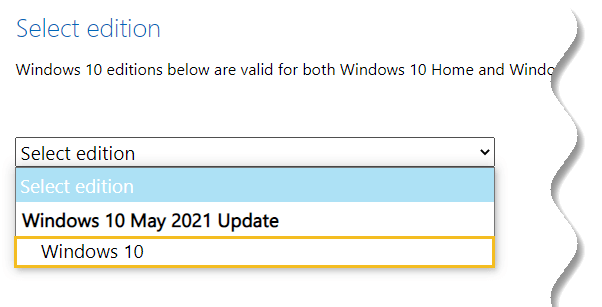 Download Windows 10 offline ISO - Windows 10 edition to download - May 2021 update