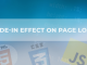 Fade-in Effect on Page Load - CSS-JS